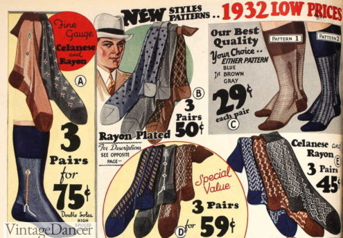 1932 mens sock patterns similar to the 1920s