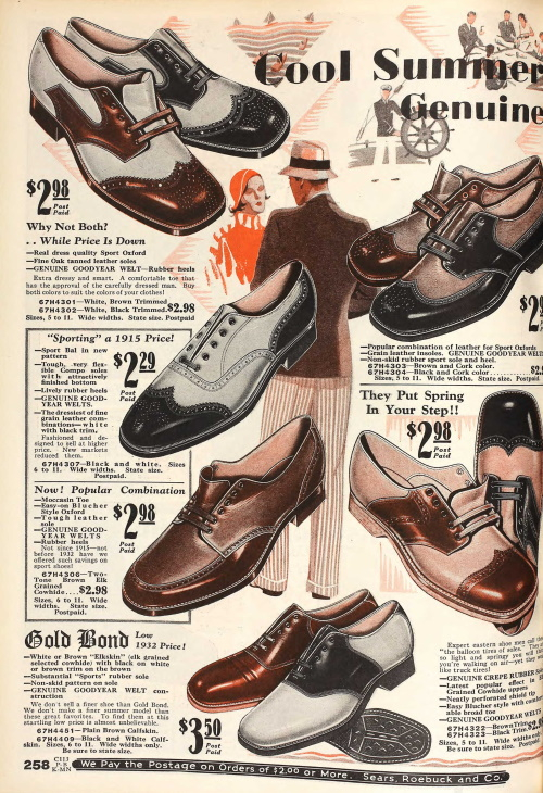 1932 mens two-tone casuals shoes