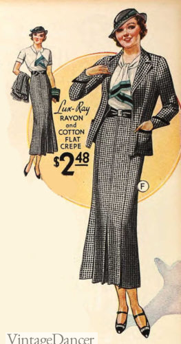 1933 matching light jacket with skirt