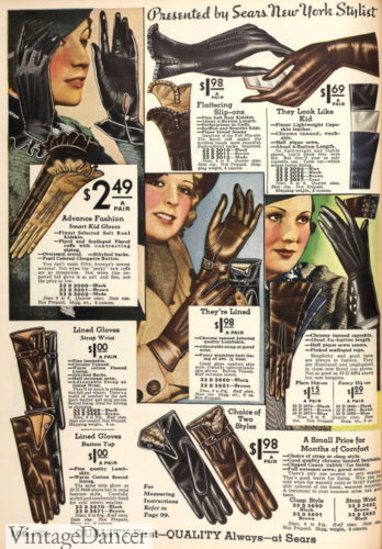 1933 winter gloves
