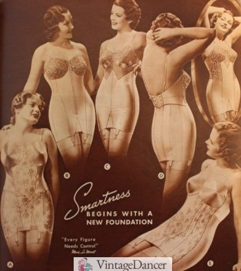 """1933 """"Every figure needs support"""" with a corselet"""