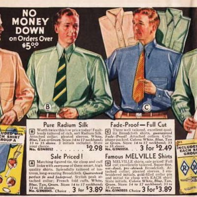 1930s Men's Shirt Styles and History