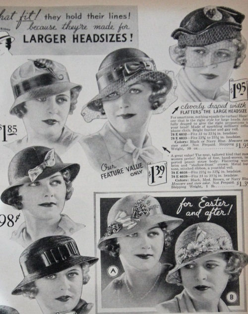 1934 hats with veils (top)