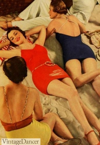 1934 robe back swimsuits