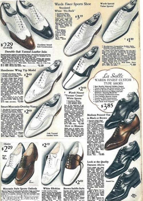 1935 mens mostly white shoes