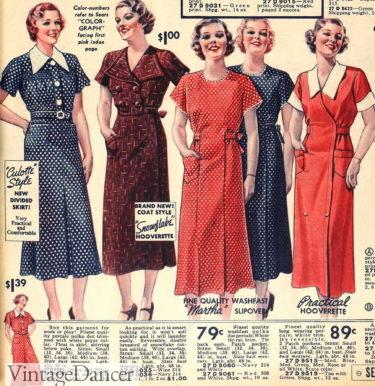 1936 house dresses