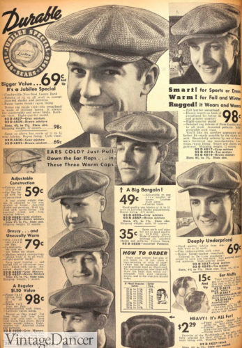1936 caps - every man them for work or leisure