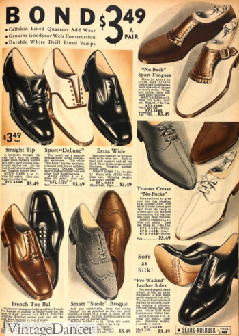 1936 unique types of men's shoes