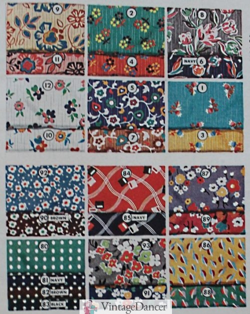 1937 crepe prints- saturated colors