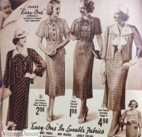 1937 Easy On maternity dresses with wrap