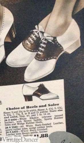 1930s saddle oxford shoes