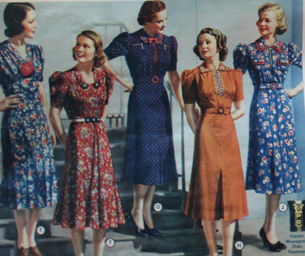 1938 Fashion | Dresses, Coats, Hats, Shoes