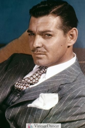 1938 Clark Gable pinstripe suit