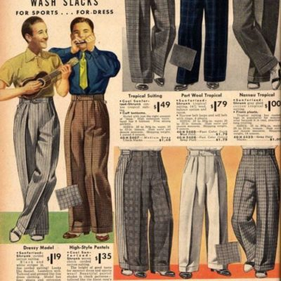 1930s Men's Pants, Trousers, and Shorts Styles