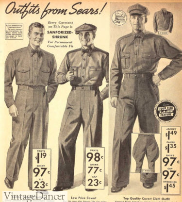 1938 Uniforms of matching shirt and trousers