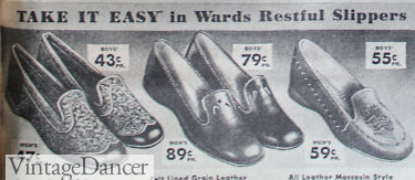 1938 men's slippers, house shoes