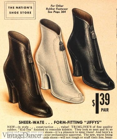 1930s rain boots winter shoes