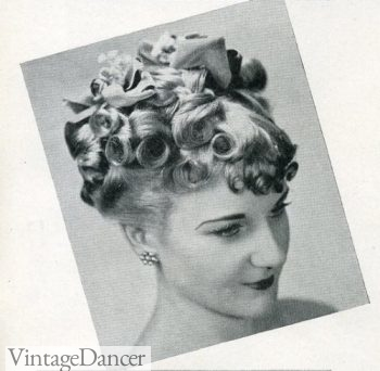 1939 curls on top, curled bangs