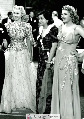 1940s Old Hollywood gowns