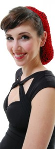 1940s hair snood red