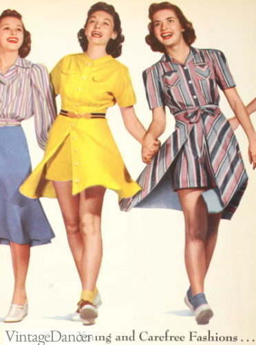 1940, matching rompers and overdresses=playsuits