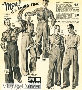 1940s swing dance pants men