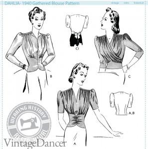 1940s blouse pattern
