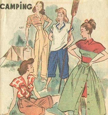 1940s camping clothes