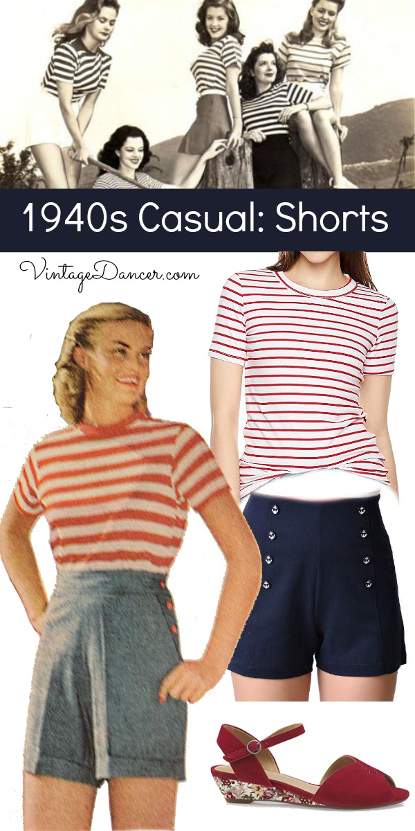 1940s Casual Outfits: Summer Clothes & Shoes