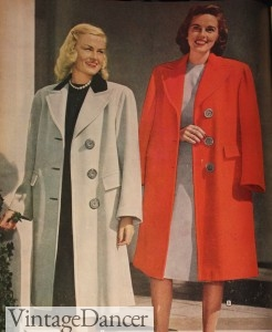 1940s coats for women