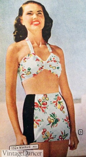 1940s bathing suits two piece