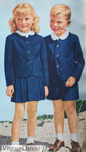 1940s children's clothes, matching set