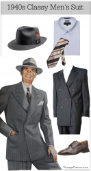 1940s Men's Fashion & Costume Ideas