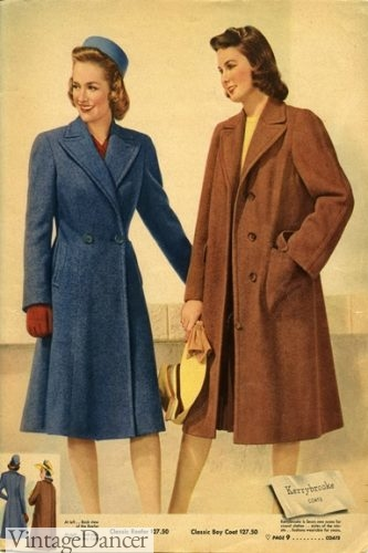 1940 reefer coat and box coat