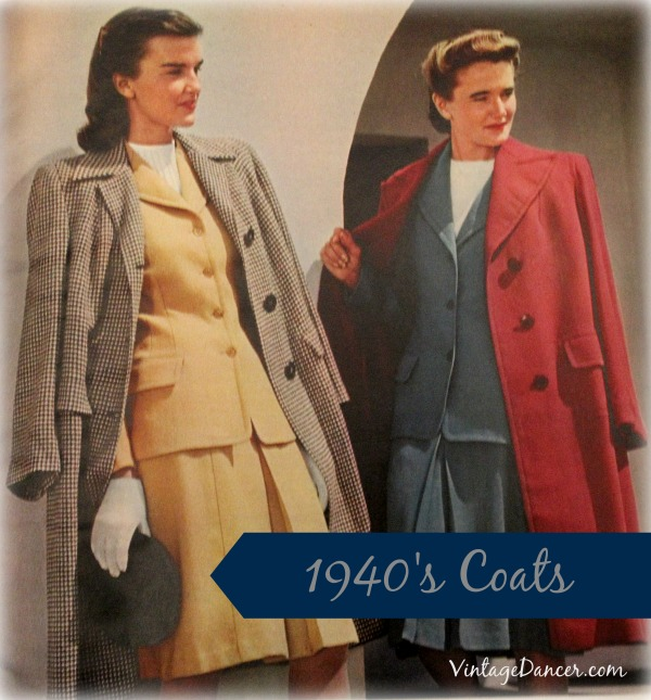 1940s Coats Womens Ladies