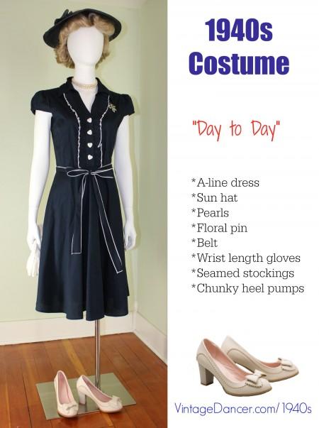1940s costume day dress patriotic at vintagedancer com