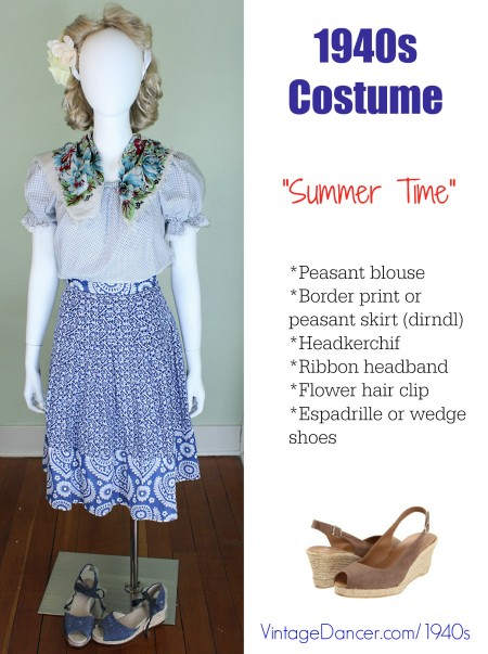 My 1940s Peasant Skirt and Blouse look for Summer