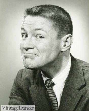 1940s men's crew cut hairstyle