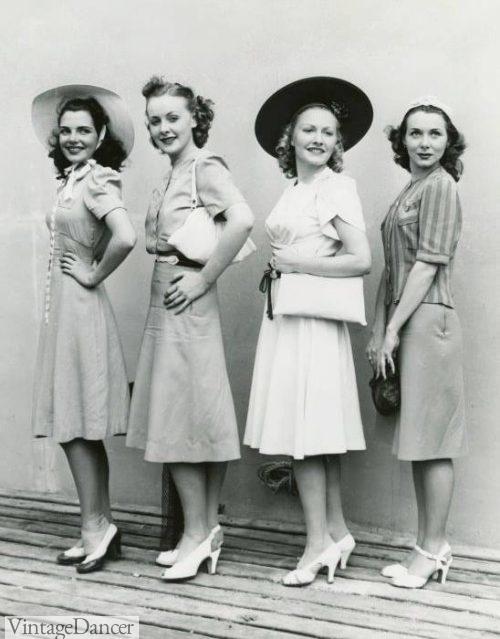 1940s streetwear womens fashion