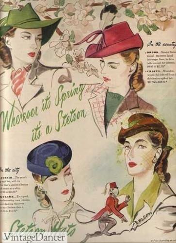 1940s hats women