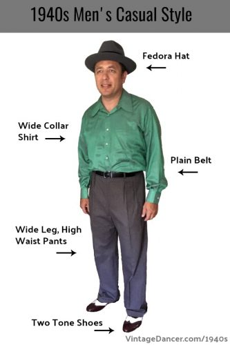 Men's 1940s vintage casual clothing - 1940s fashion