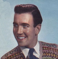 Mid 1940s men's waved pompadour hairstyle