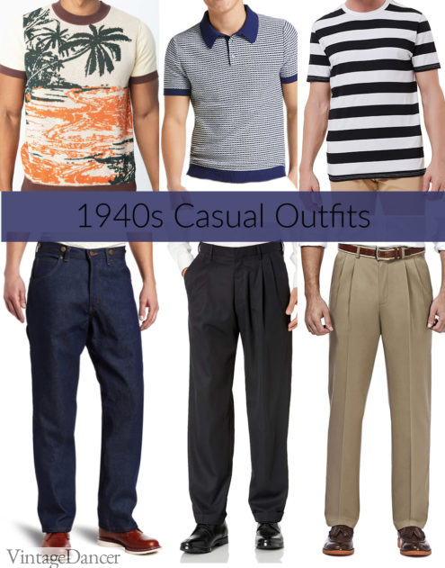 1940s mens casual outfits