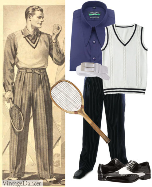 1940s tennis outfit