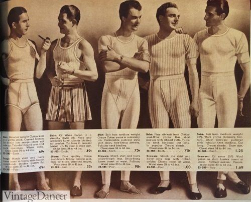 1940s Men's Underwear: Briefs, Boxers, Unions, & Socks