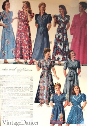 1940s Nightgowns and Robes