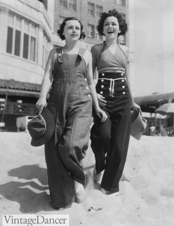 1940s overalls and sailor pants