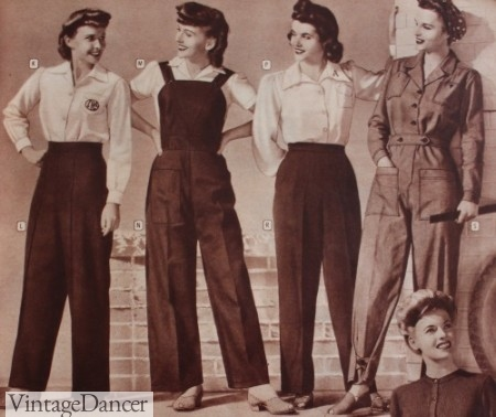 1940s Work wear and sport wear