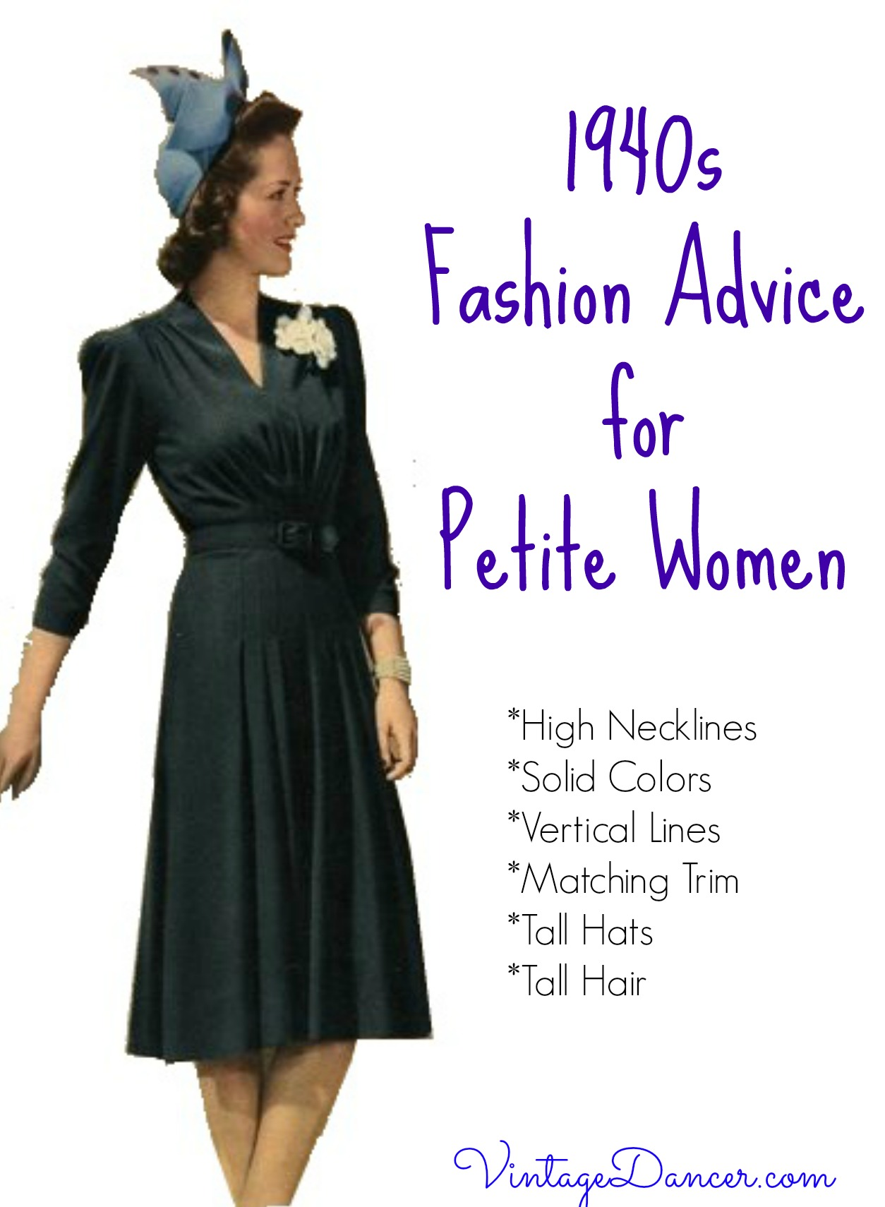 1940s Fashion Advice For Short Women