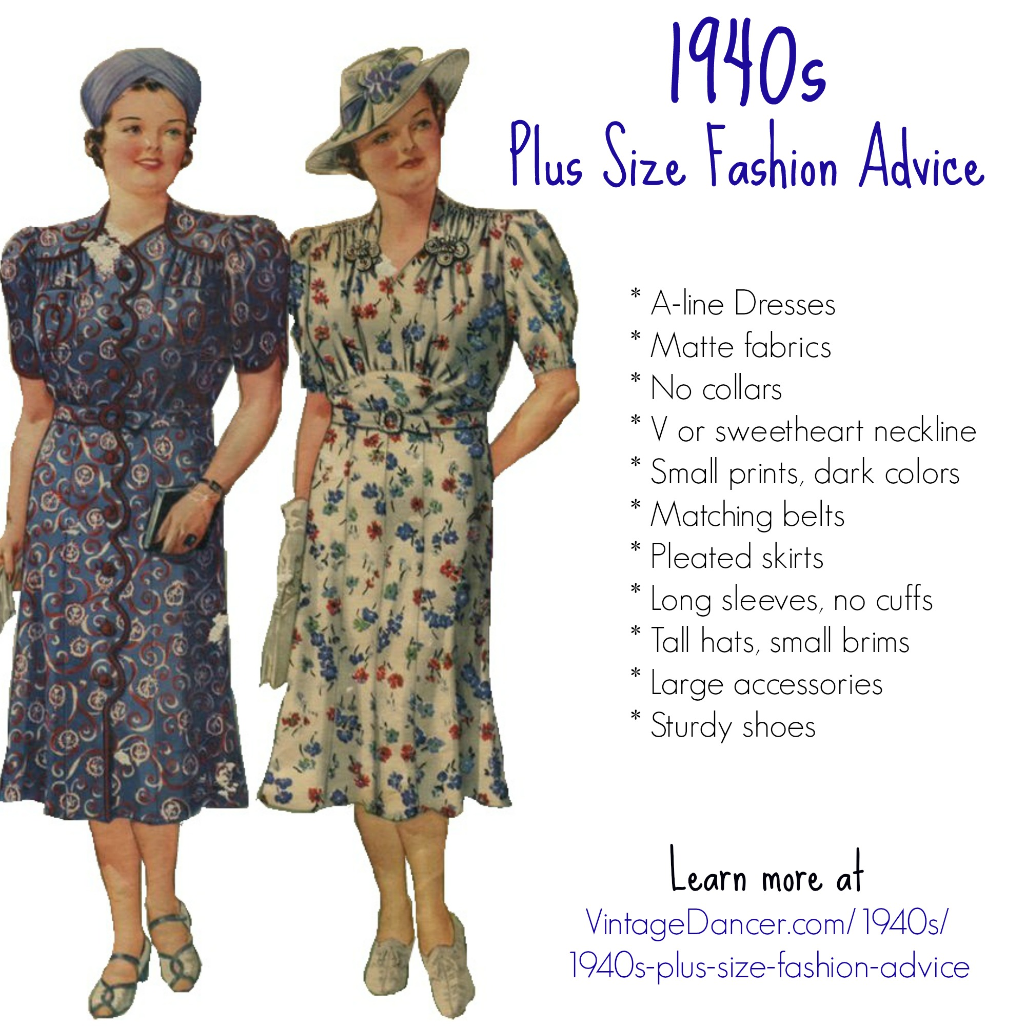 1940s Plus Size Fashion: Style Advice from 1940s to Today